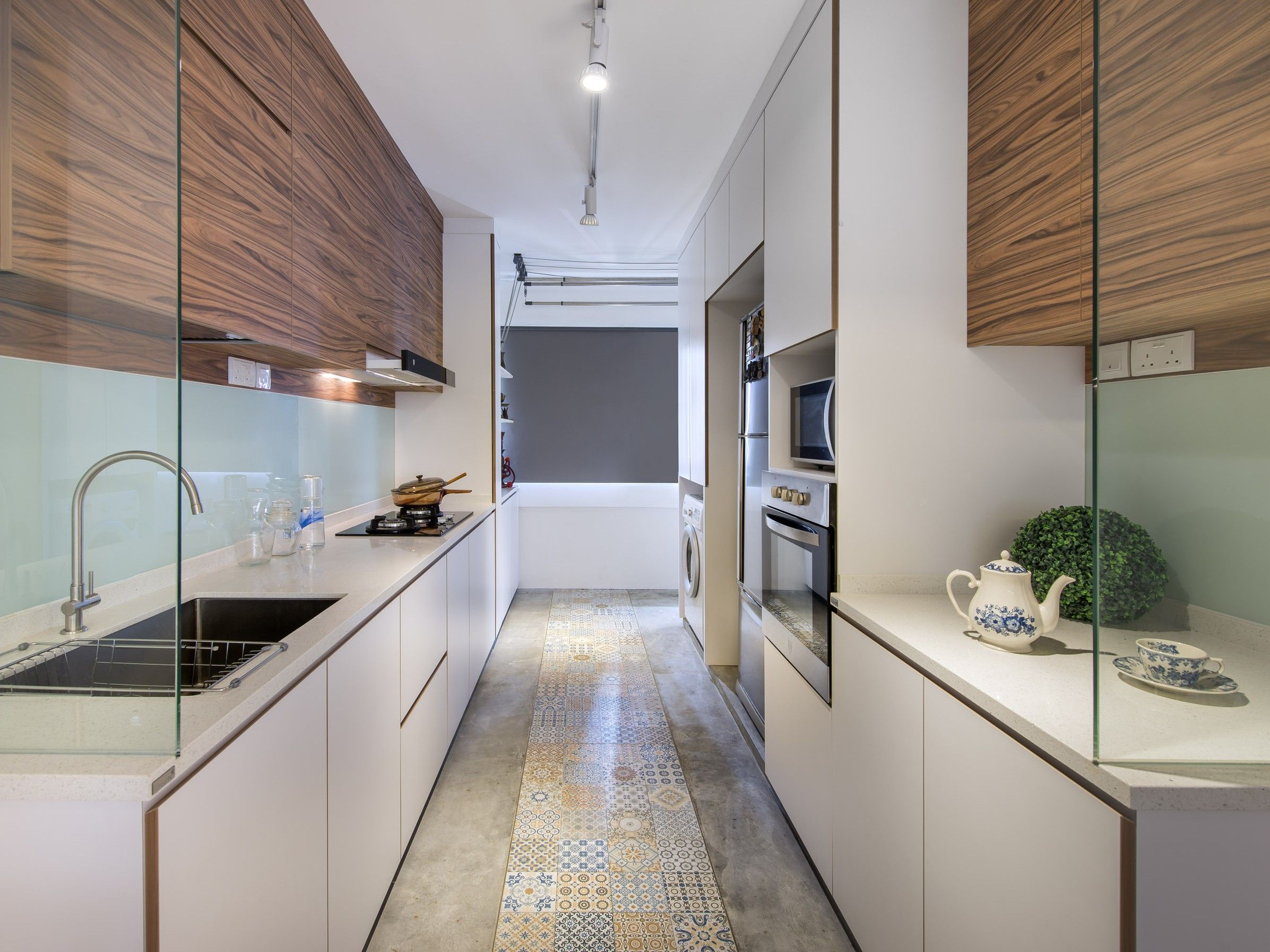 mixed flooring for kitchen past present home decor singapore best kitchen layout on kitchen ideas singapore id=77250