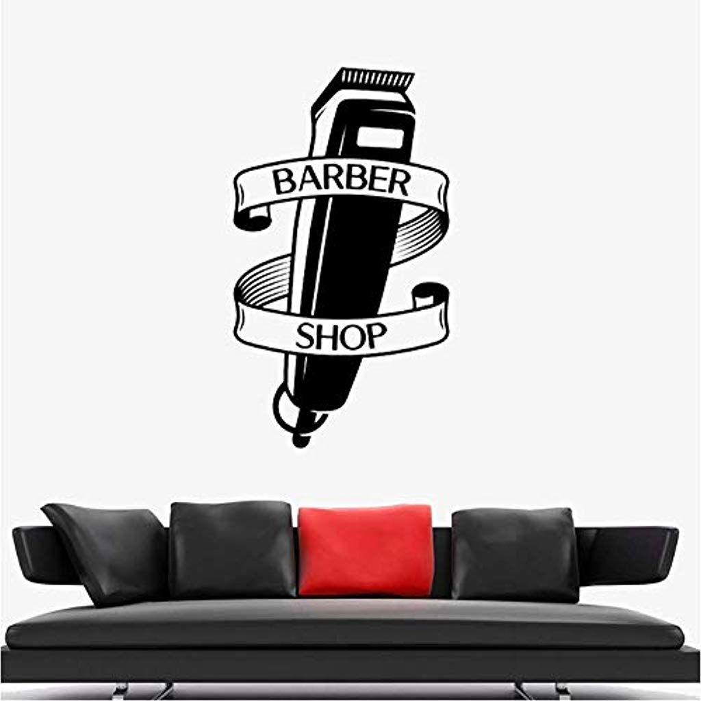 Rasierer Vinyl Fenster Aufkleber Wandkunst Aufkleber Friseure Haarschnitt Wandaufkleber Steuern Dekor Moderne Dekoration 42x72 Moderne Dekoration Umstandskleid