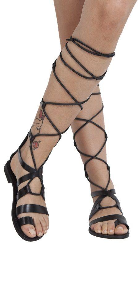 Gladiator sandals, women leather sandals type Ines :-)