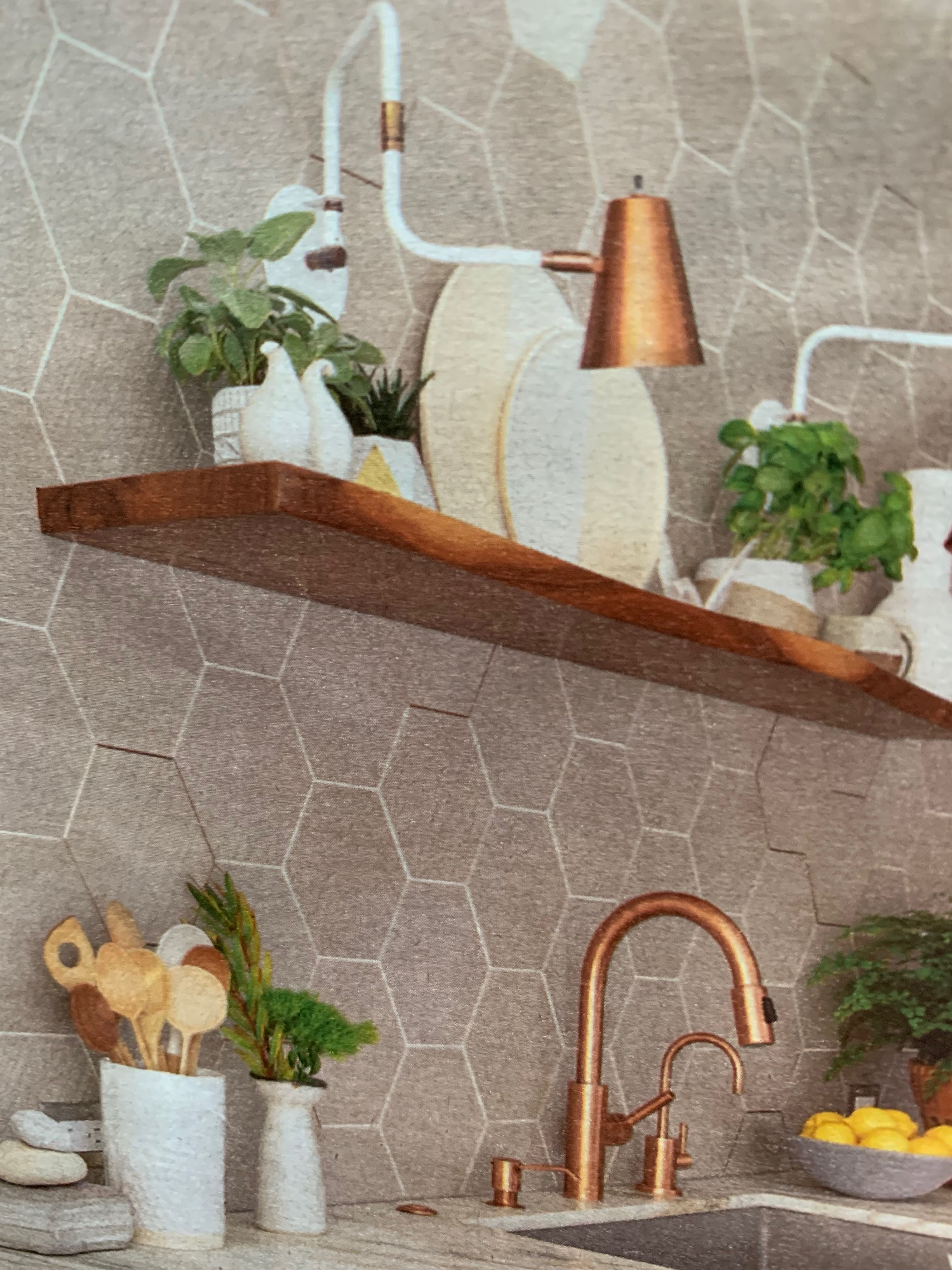 Wall Tile With Copper Tile Edging Credit Bh G Mag Copper Tiles Tile Edge Wall Tiles