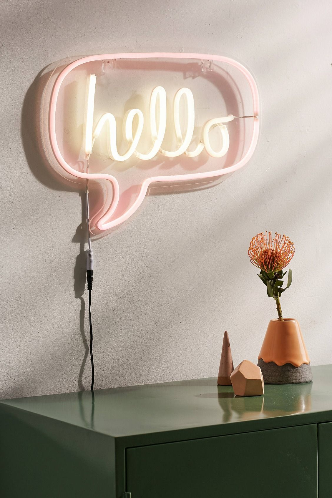 Beau Slide View: 1: Hello Neon Sign