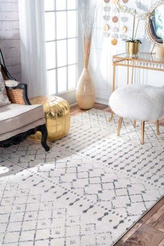 Moroccan Blythe Grey Area Rug Size 6 7 X 9 Area Rugs