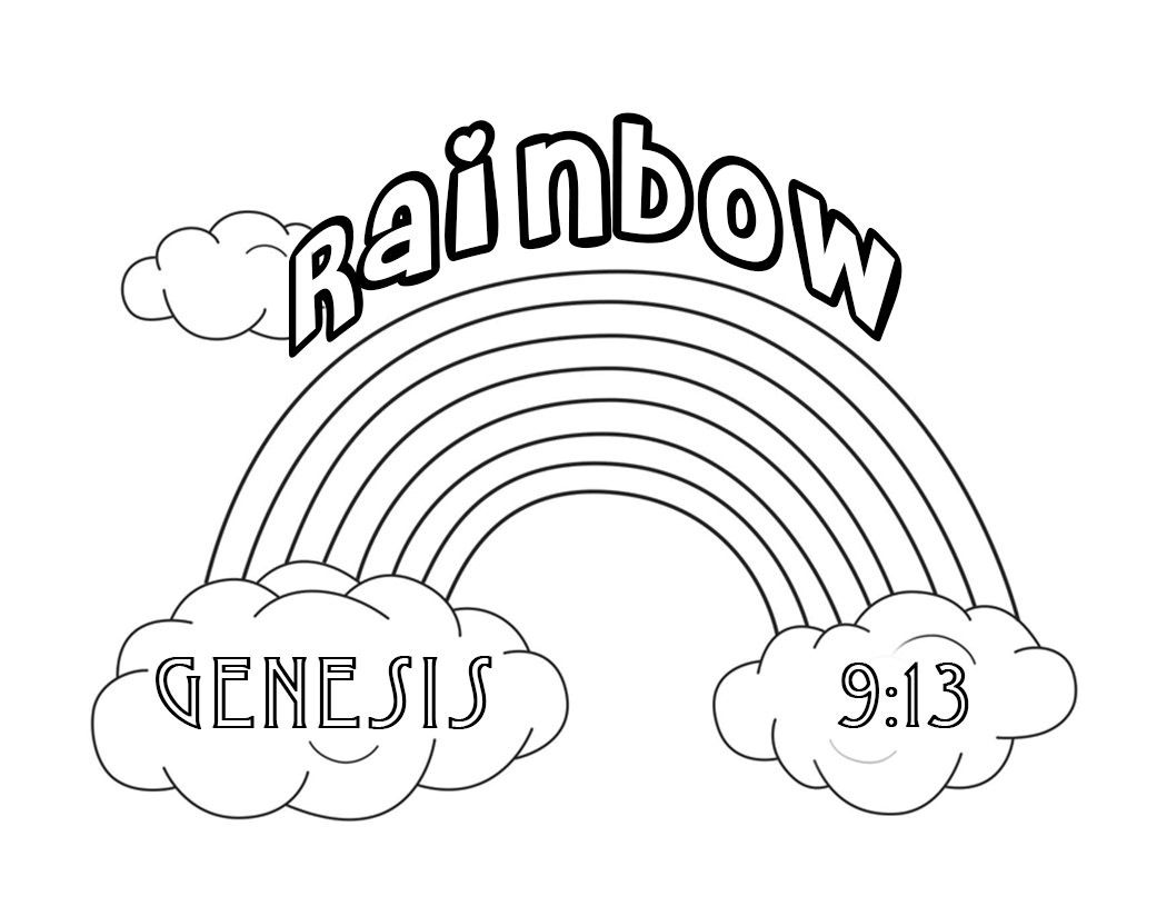 Genesis 9:13 | Coloring pages for kids, Coloring pages ...