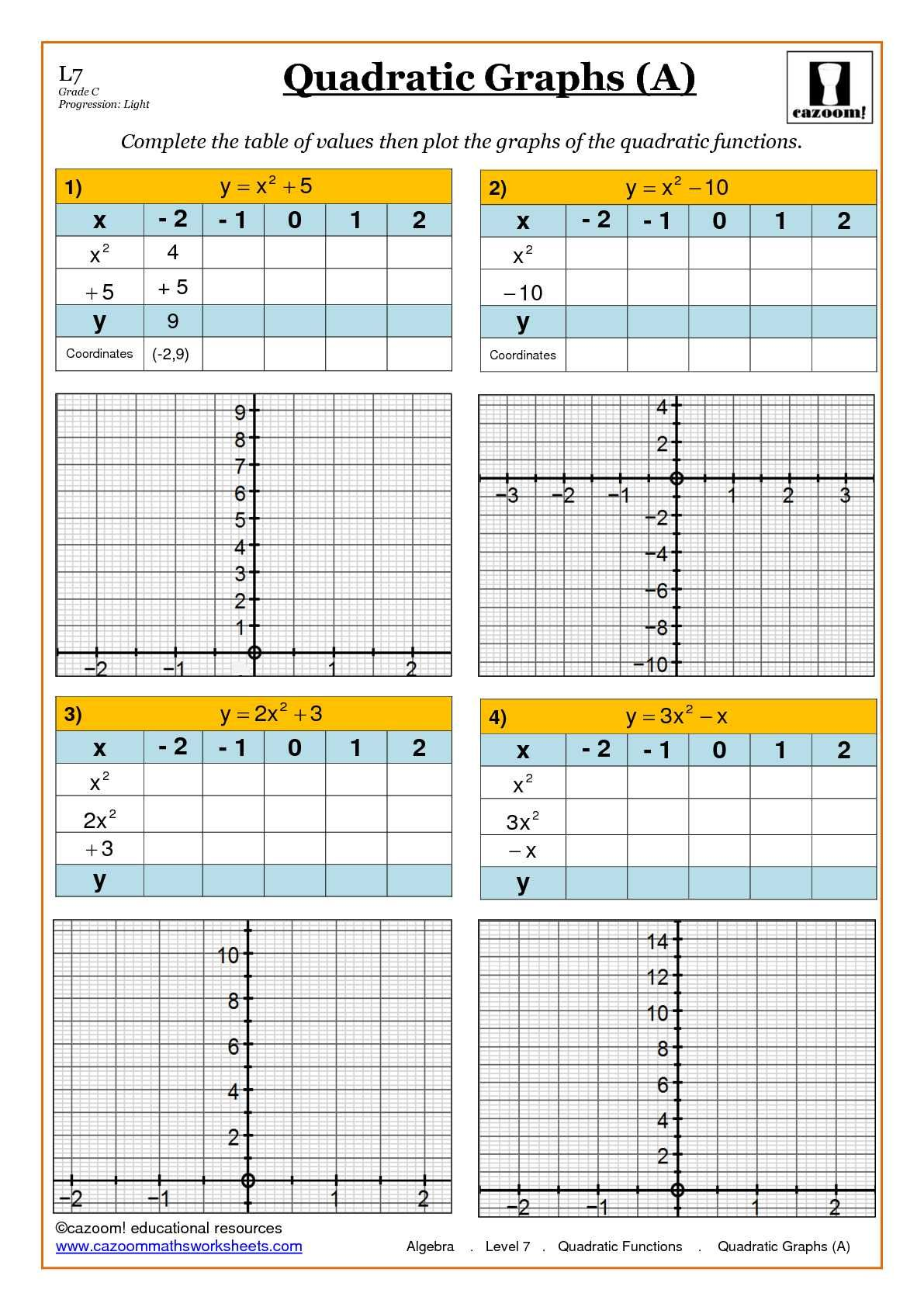 Algebra Maths Worksheet ks3 and ks4 – Fun with Maths Worksheets