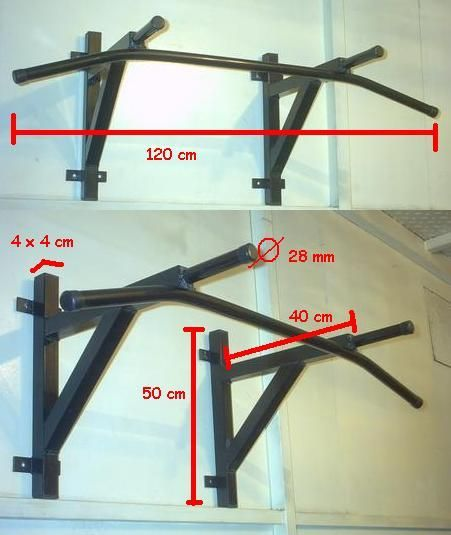 Medidas para hacer una barra para dominadas buscar con - Barra dominadas pared ...