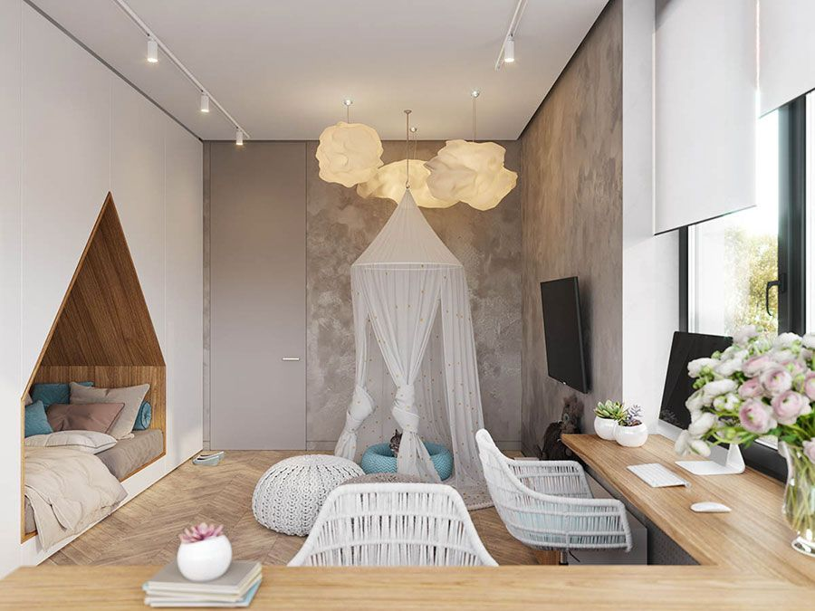 Camere Da Sogno Per Bambini : Camerette da sogno per ragazze dal design moderno e frizzante idee