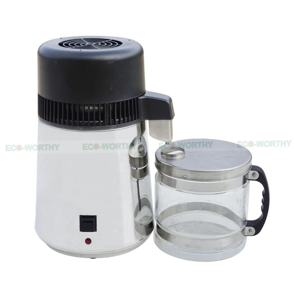 110v 4l Stainless Steel Water Filter Distiller Purifier Dental Machine Home Vv Ecoworthy Water Pump System Water Purifier Solar Water Pump