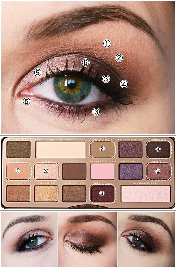 tutoriel maquillage chocolate bar too faced