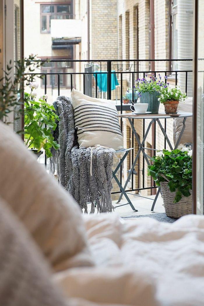 Balkongestaltung Ideen Kleiner Raum Gemütlich Skandinavisch ... Ideen Attraktive Balkon Gestaltung Gunstig