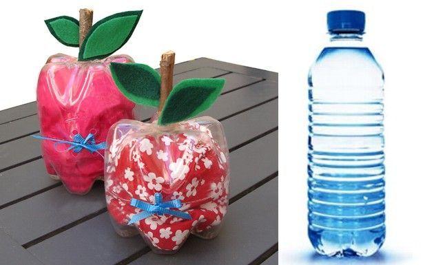 Tentadoras manzanas de botellas de pl stico - Conteras de plastico ...