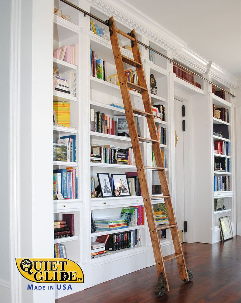 Quiet Glide Rolling Hook Library Ladder Kit With A 9 Ft QG510