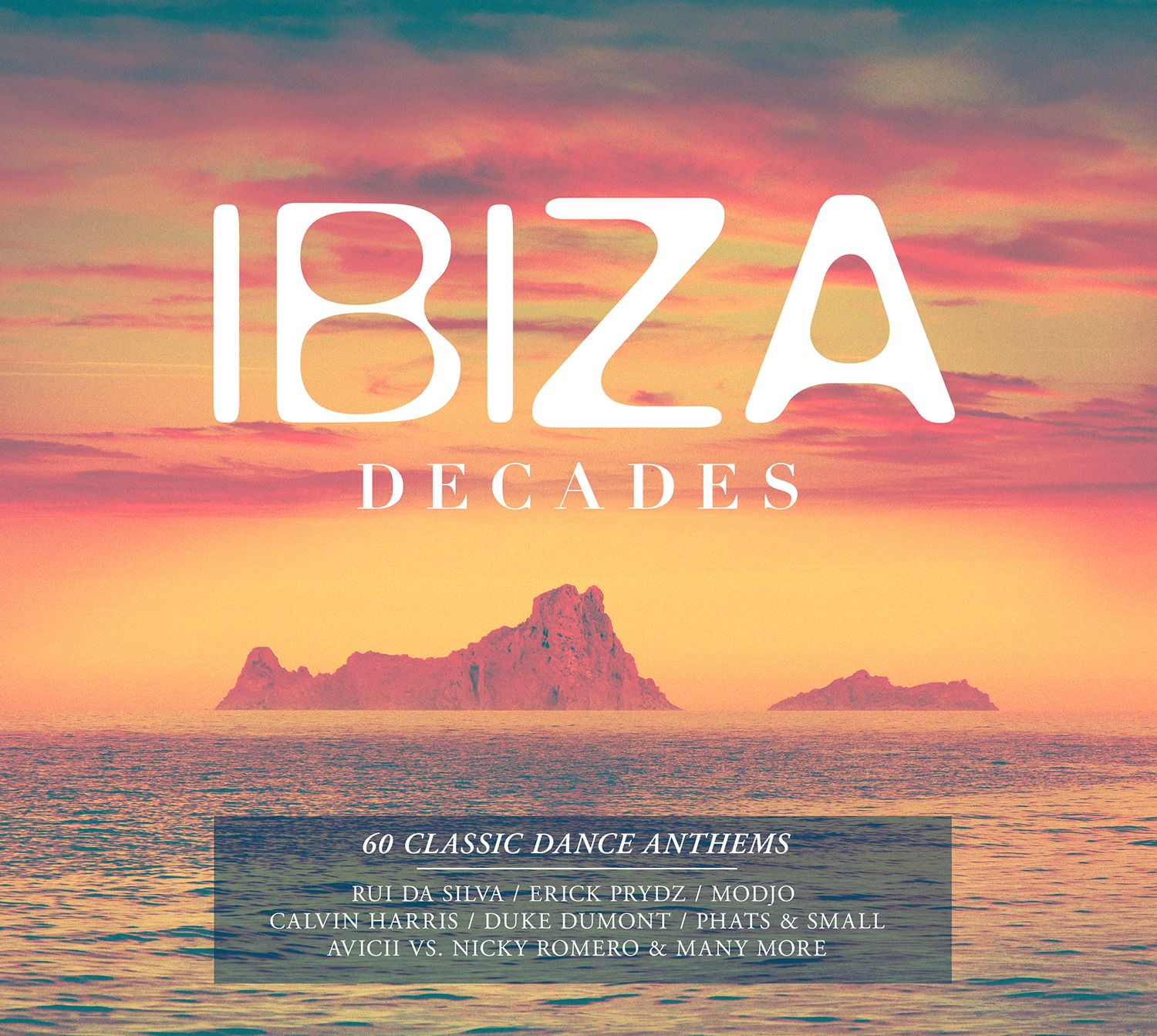 Ibiza decades album cover design for universal music for House music tracklist