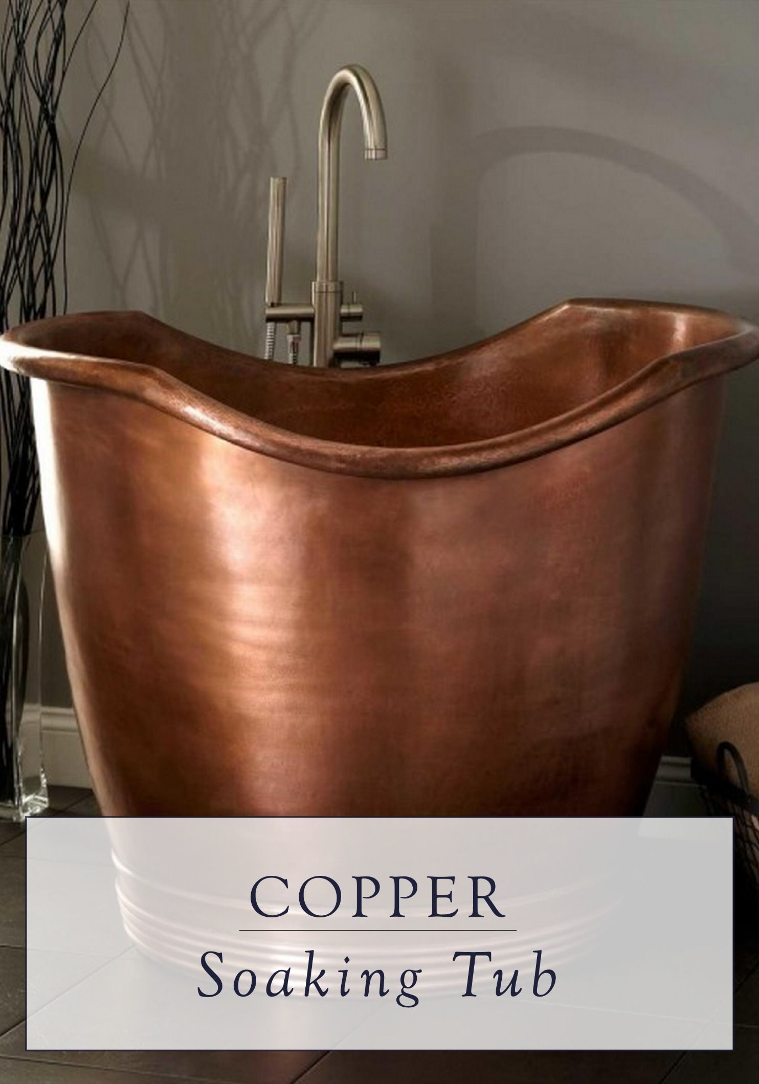 Enjoy The Tranquility Of A Long Bath In This Anese Soaking Tub Its Copper Finish Gives It An Aged Look That Is Absolutely Stunning Rustic And Earthy