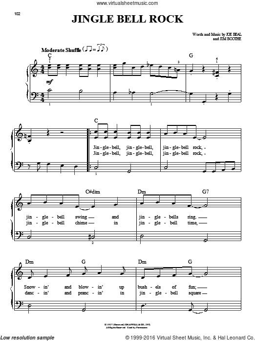 Helms Jingle Bell Rock Beginner Sheet Music For Piano Solo Piano Sheet Music Piano Music For Kids Christmas Piano Music