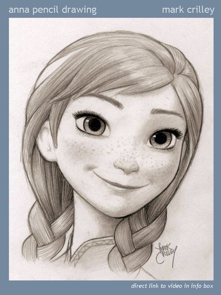 Anna pencil drawing by markcrilley deviantart com on deviantart