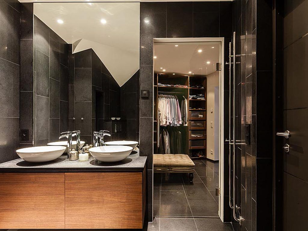 Image Result For Bathroom Closet Combination Design Bathroom Cabinets Designs Restroom Design Bathroom Closet Designs
