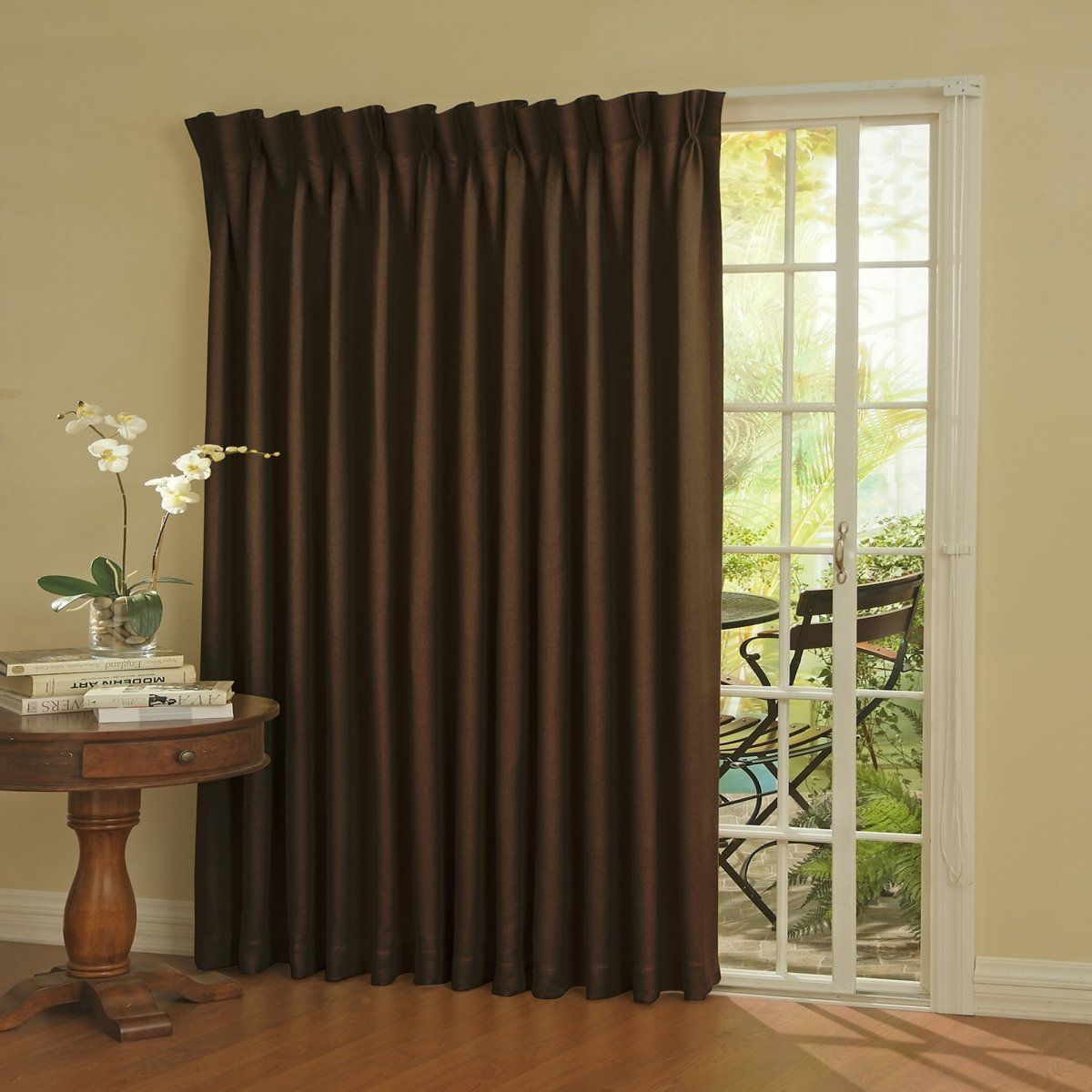 Window coverings for sliders  window covers for sliding glass doors  the thickness of fabric that
