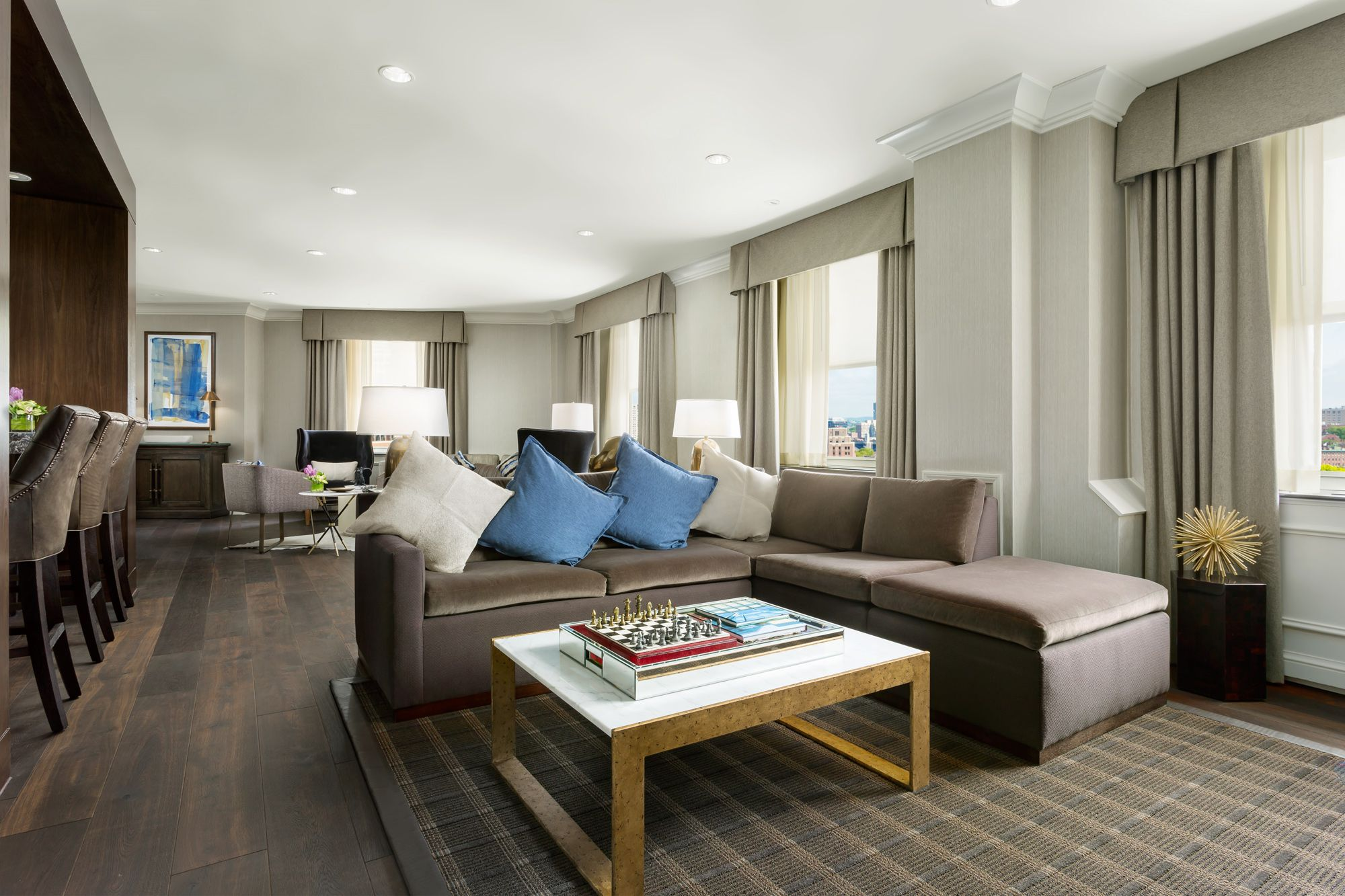 Living Room In The Presidential Suite At Boston Park Plaza The