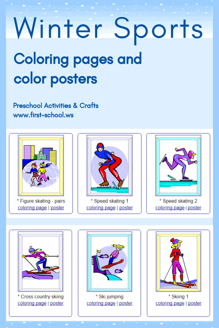 Enjoy These Winter Sports Coloring Pages And Posters Great For Winter Olympics Suitable For Toddlers Pre Sports Coloring Pages Winter Sports Sports Day Poster [ 1120 x 750 Pixel ]