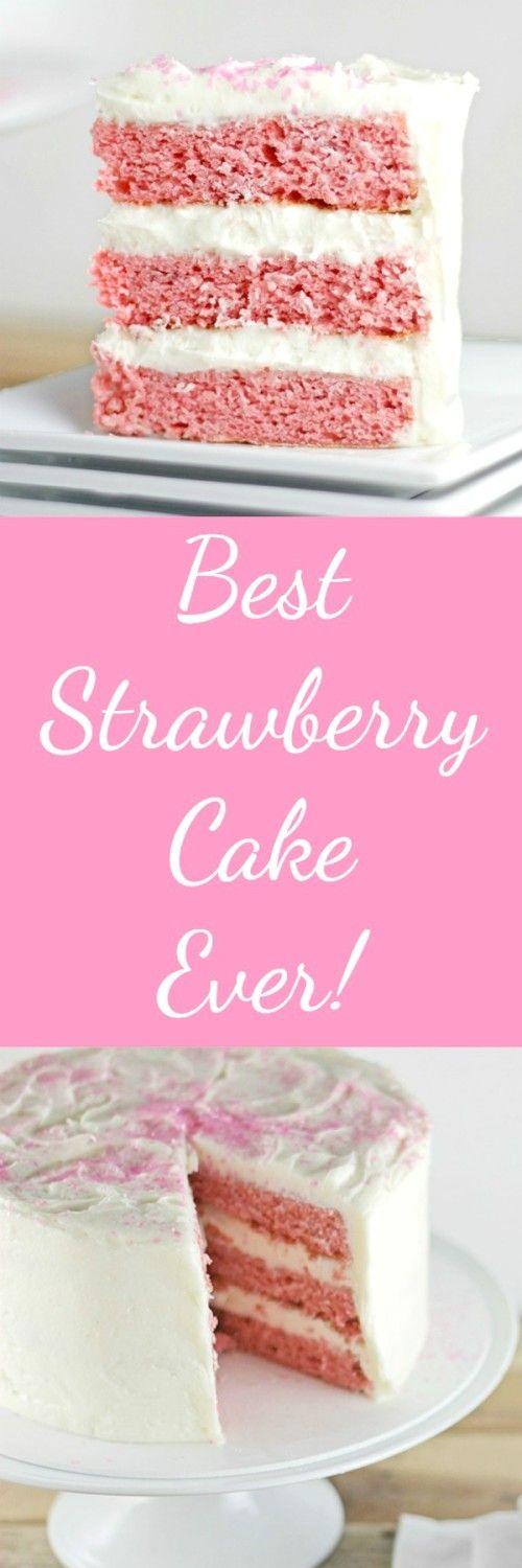 Best Strawberry Cake Ever is part of Desserts - This light and delicious cake is perfect for any occasion