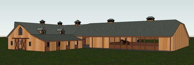 Indoor Arena Stall Combo Barn Home Attached Arena Riding Arena Barn House Kits Barn House Riding Arenas