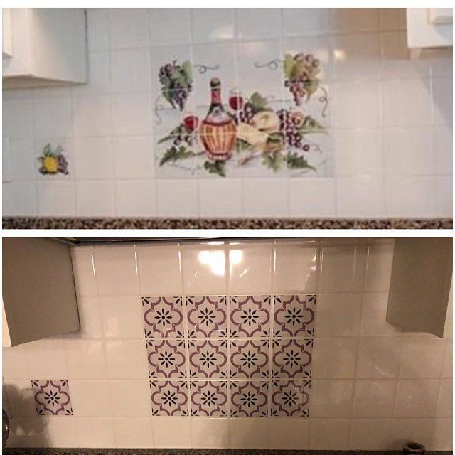 Kitchen and Bathroom Splashback - Removable Vinyl ...