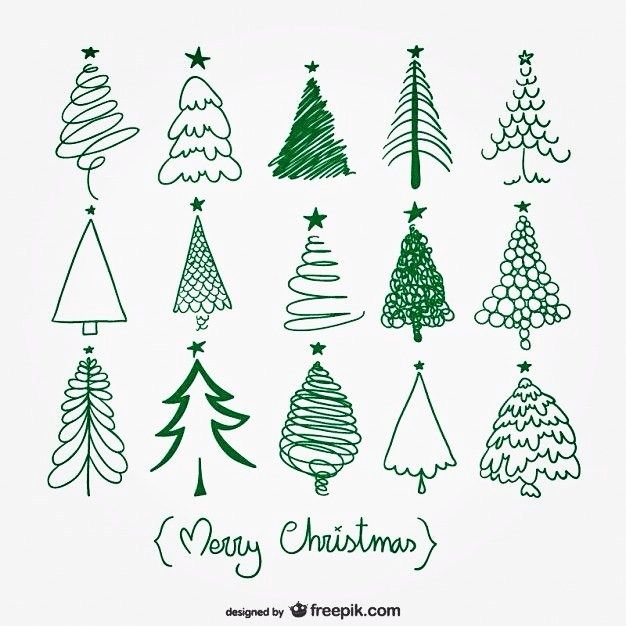 Christmas Tree Doodles Planner Ideas With Images Christmas Doodles Christmas Vectors Christmas Cards