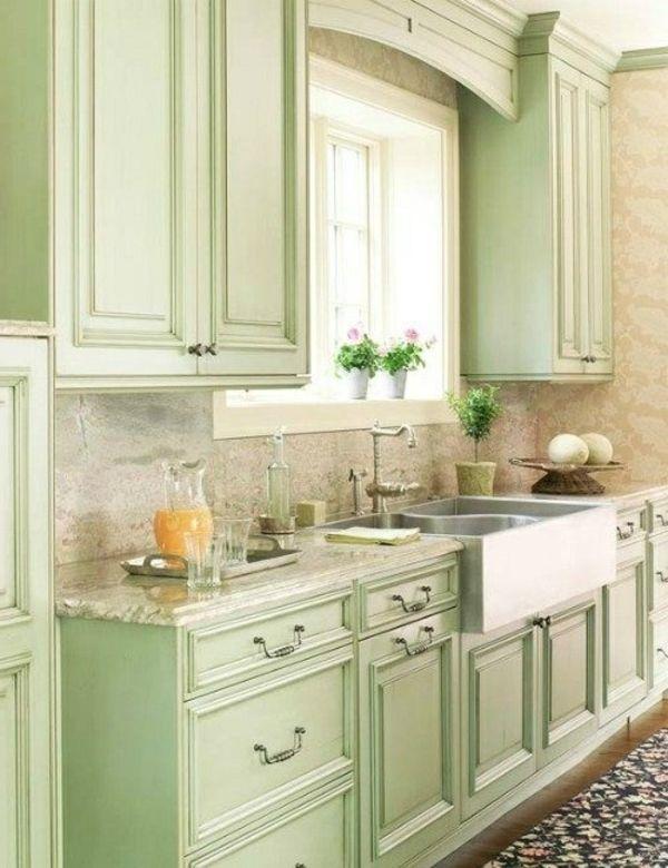 Großartig Grün Gefärbt Küchenarbeitsplatten Galerie - Küchenschrank ...