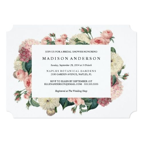 Vintage Wedding Invitation Garden