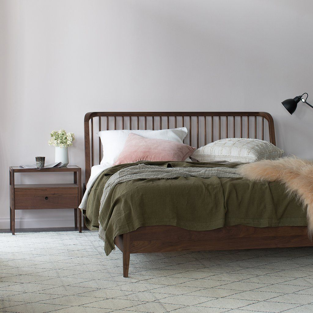 Ethnicraft Walnut Spindle Queen Bed in 2020 Spindle bed