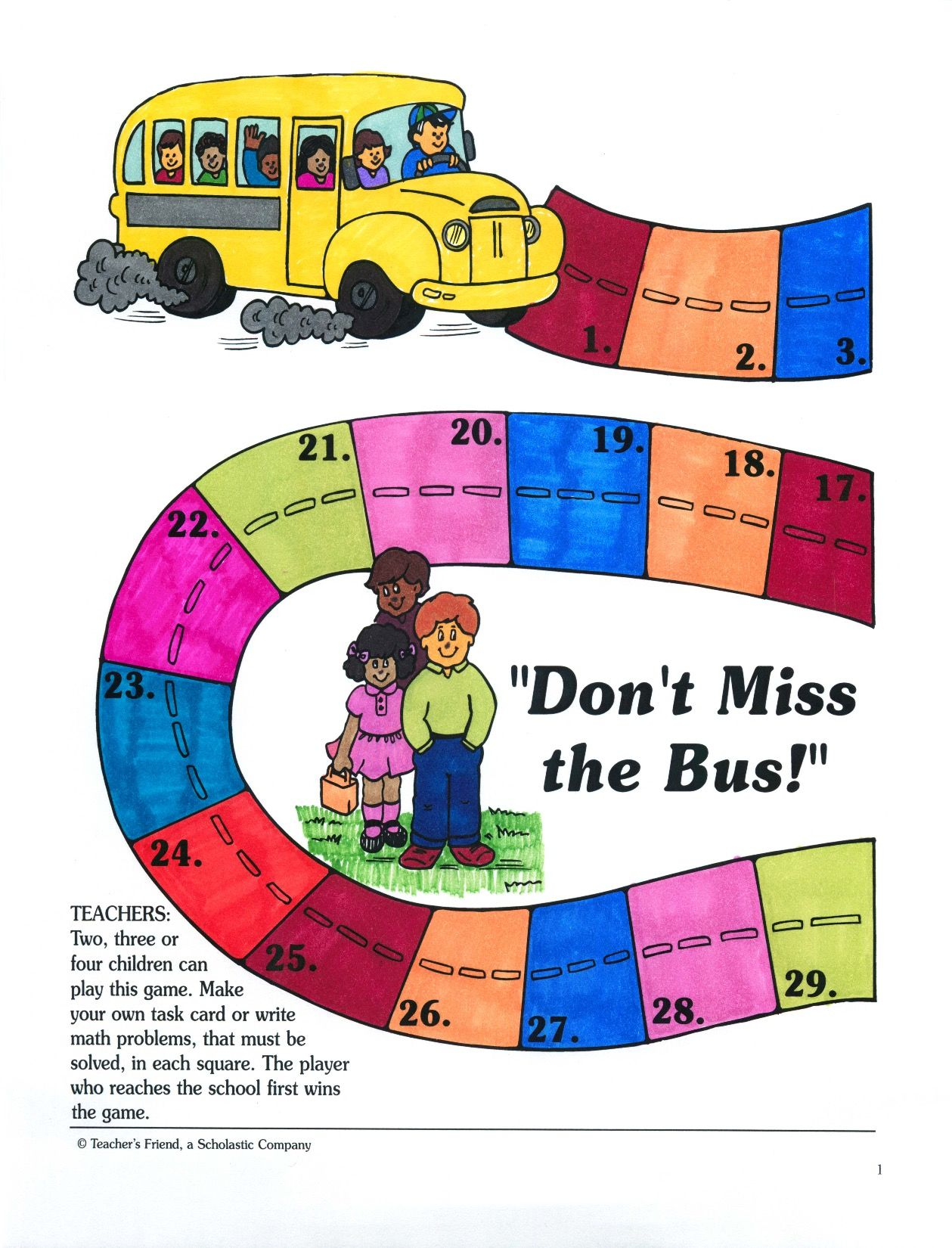 Check out this great math game for up to 4 children. Students must ...
