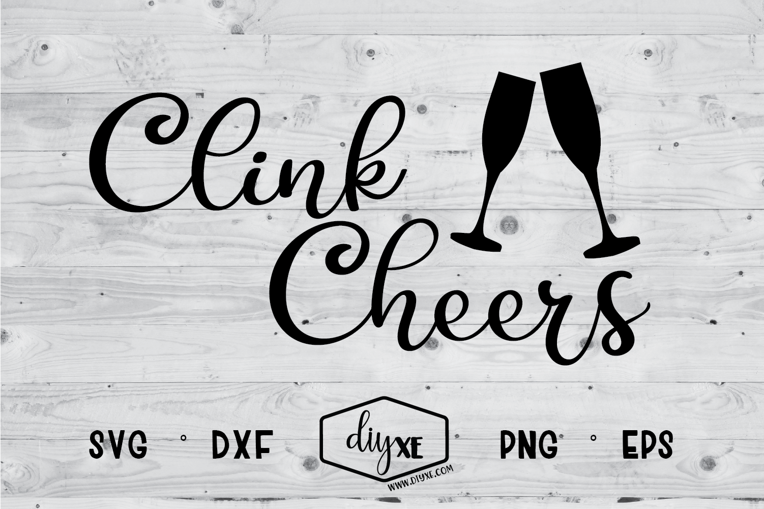 Clink Cheers Cheer, School design, Silhouette