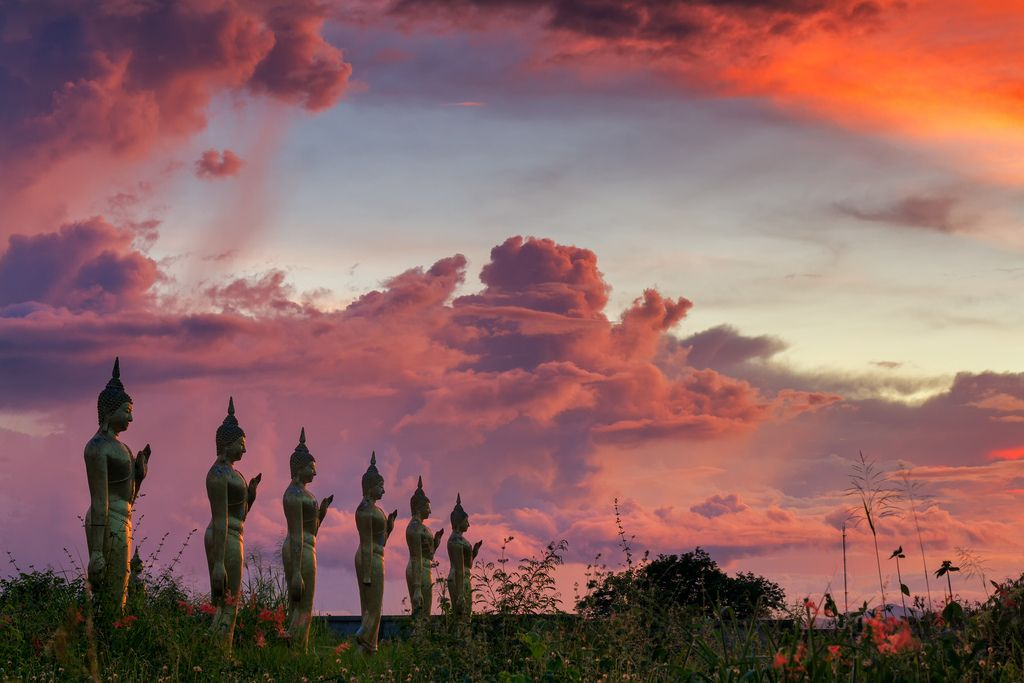 Buddha statue with beautiful sky. | by Noom HH