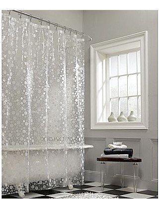 Fun Bubbles Vinyl Shower Curtain Vinyl Shower Curtains Brown