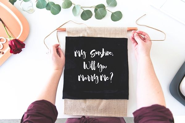 Diy Marriage Proposal Banner With Cricut Marriage Proposals