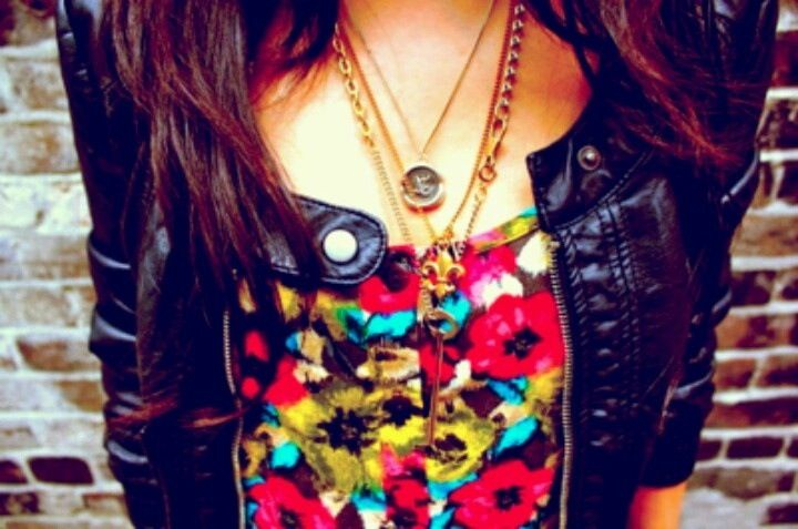 Leather and floral <3