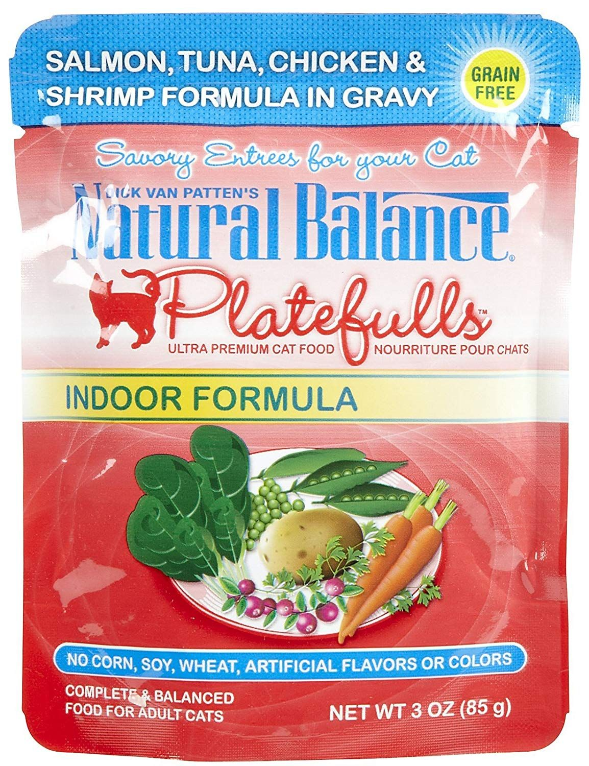 Natural balance cat pouch indoor salmon 243oz very