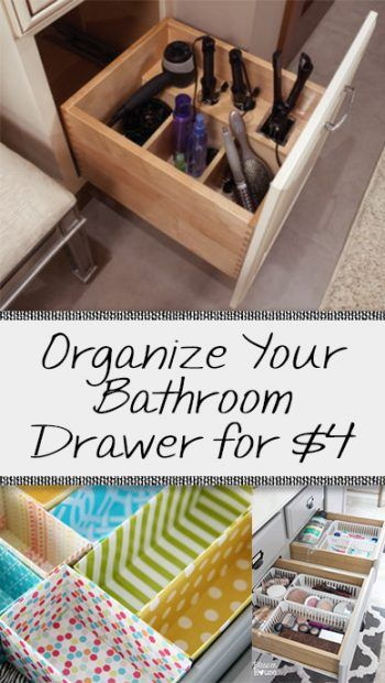 Organize Your Bathroom Drawer For 4 Easy Bathroom Organization Closet Organization Diy Bathroom Drawers