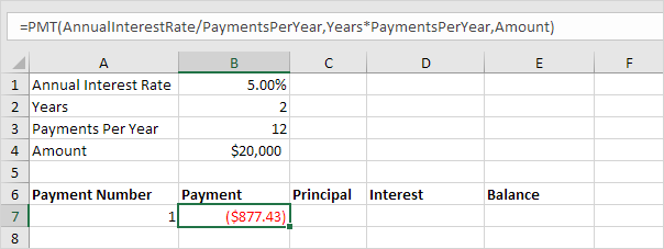 Loan Amortization Schedule In Excel  Easy Excel Tutorial Payment