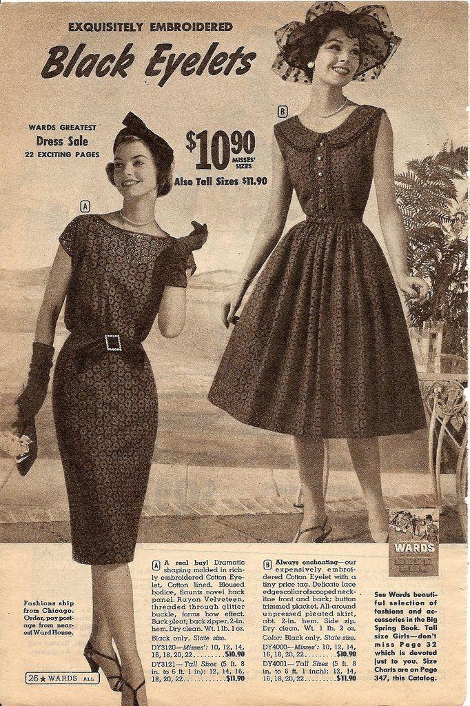 b909ec92e montgomery ward summer 1959 catalog Vintage Fashion 1950s