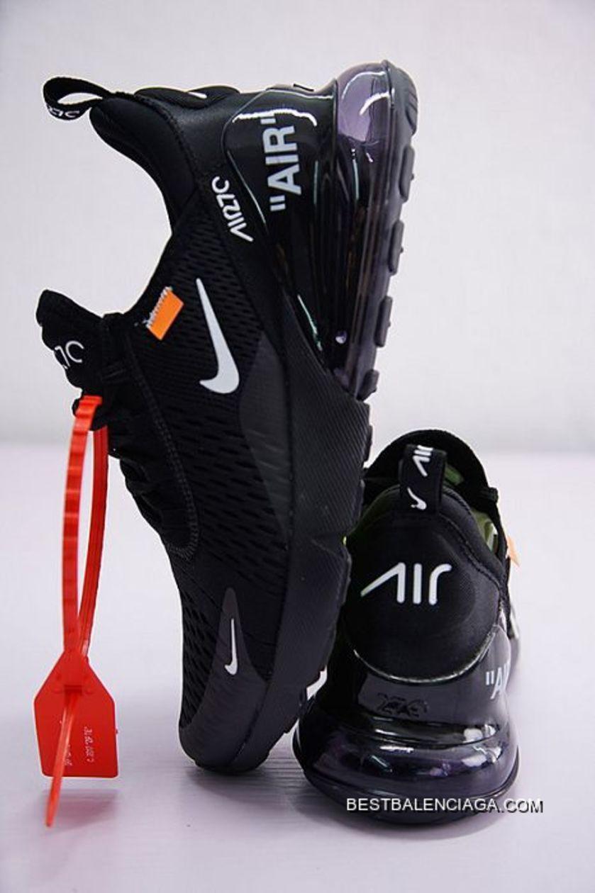 Men Off White X Nike Air Max 270 Running Shoe SKU:150349 267