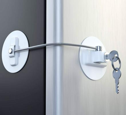 Refrigerator Key Lock Keeps Out Kids And Snackers Refrigerator Lock Fridge Lock Door Locks