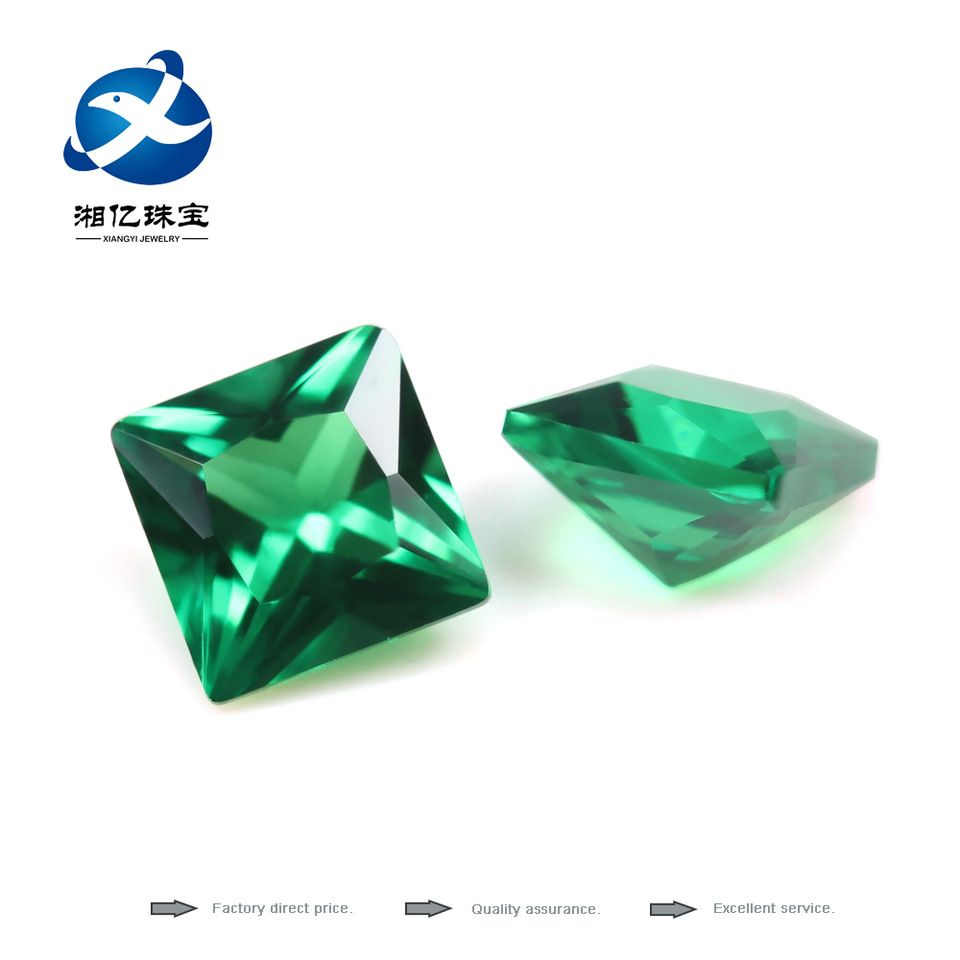 emerald cubic for gemstone good cut jewelry zirconia direct pear product cz aaa green quality making synthetic grad from loose factory