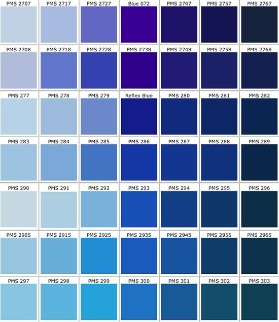 real access promotional products creative business pms color chart blue light to dark in. Black Bedroom Furniture Sets. Home Design Ideas