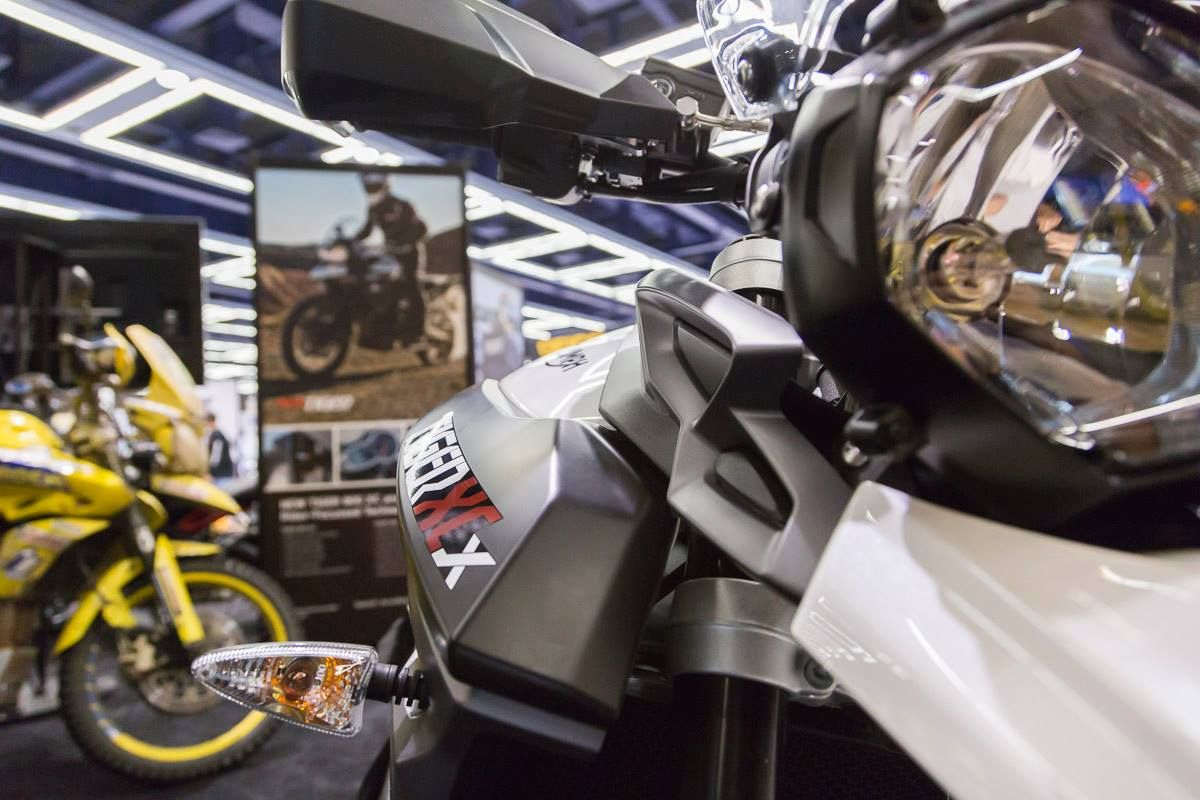 Triumph Motorcycles has their new #TigerXCx on the floor at Washington State Convention Center