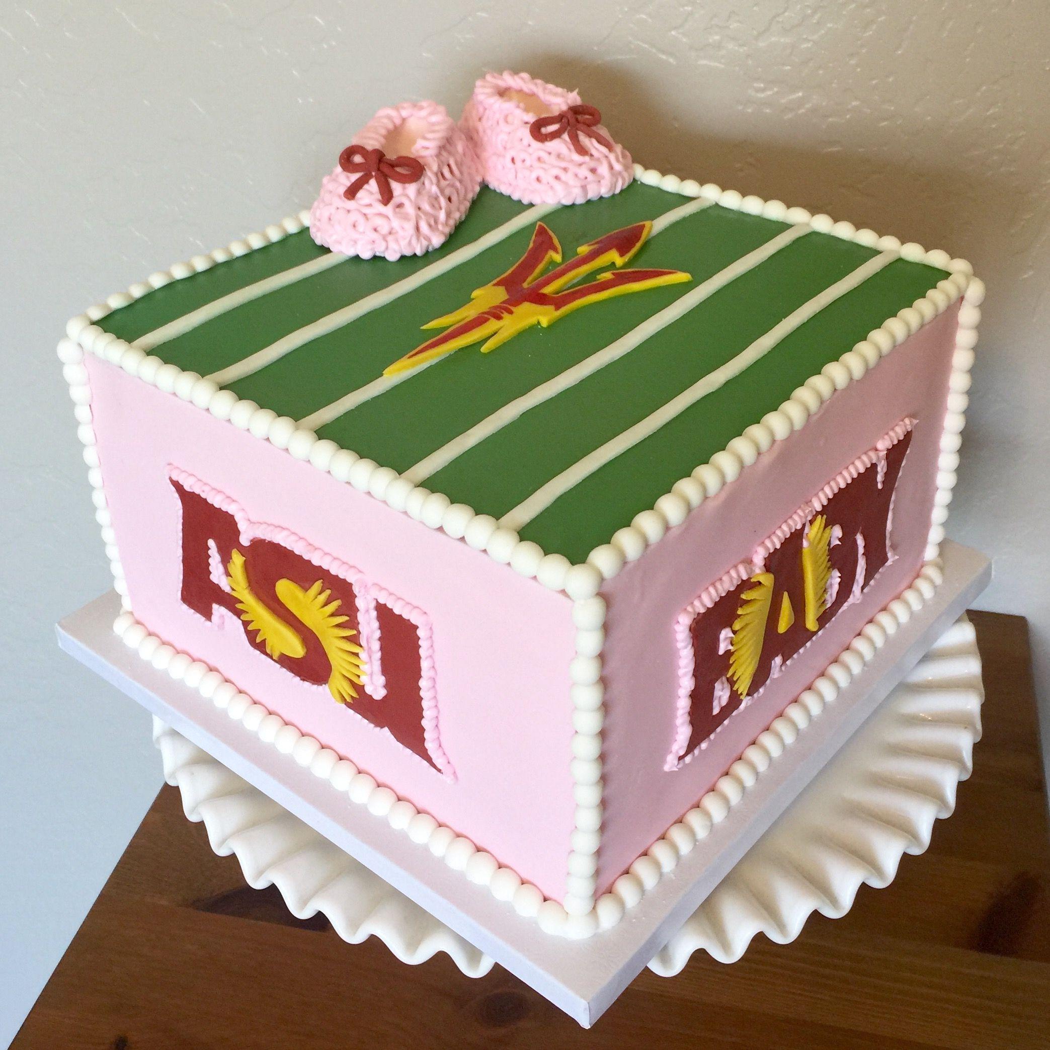 Asu baby shower cake baby shower cakes shower cakes cake