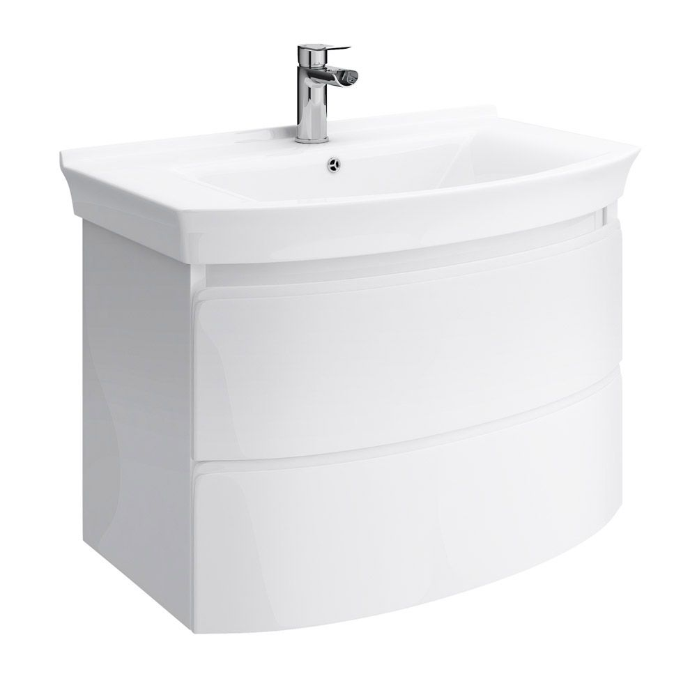 Hudson Reed Canopy Wall Mounted 2 Drawer Basin & Cabinet W800 x ...