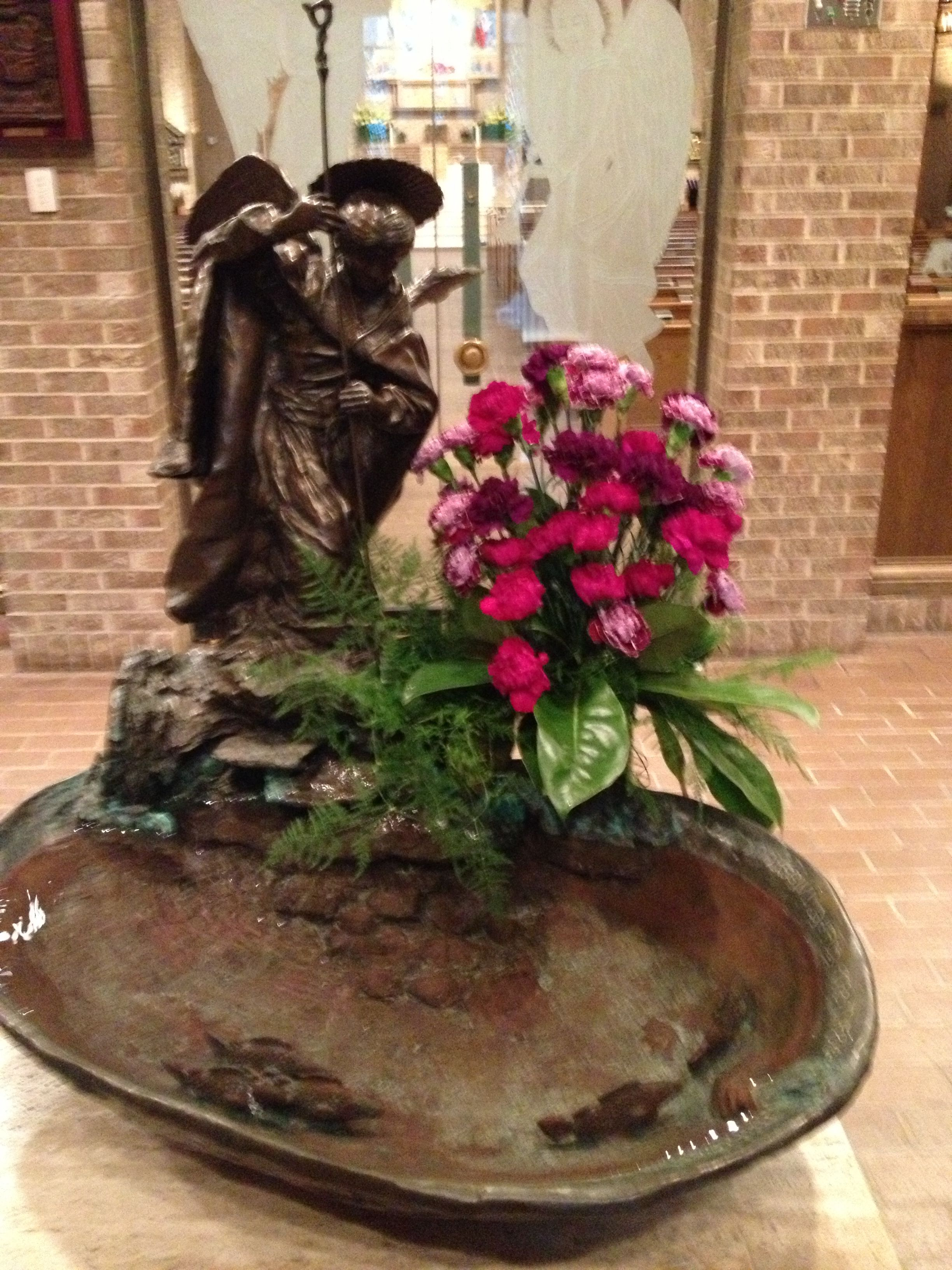 Font Church Of Transfiguration Dallas Tx February 10 2013 Altar