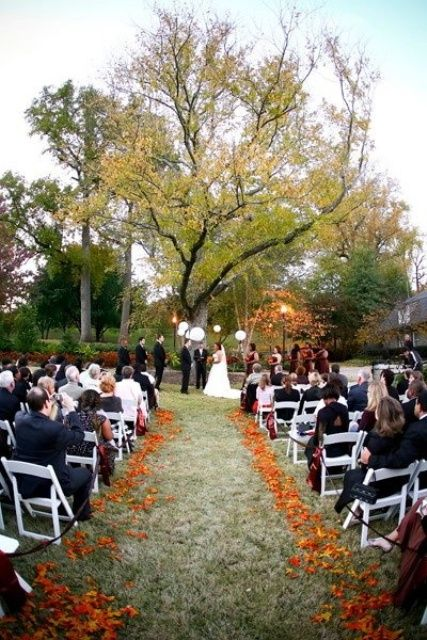 Outside Fall Decorating Ideas | 36 Awesome Outdoor Décor Fall Wedding Ideas  | Weddingomania