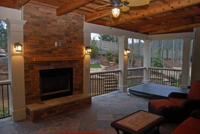 Porches 49 Jpg 639 428 Pixels Decks And Porches Patio Fireplace Patio